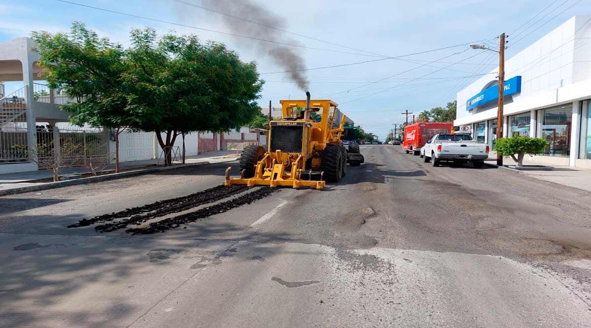 Rehabilitan calle Félix Ortega en La Paz