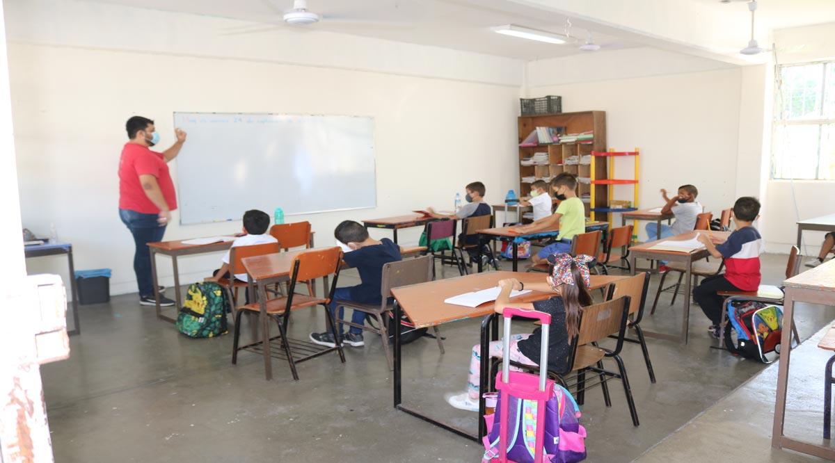 Regresaron 6 mil alumnos a clases presenciales en 190 escuelas de BCS