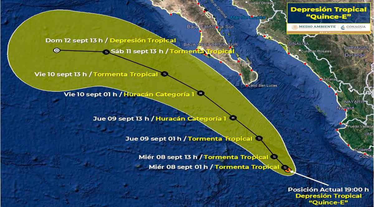 """Se convertirá en tormenta tropical """"Olaf"""" la depresión tropical 15-E"""