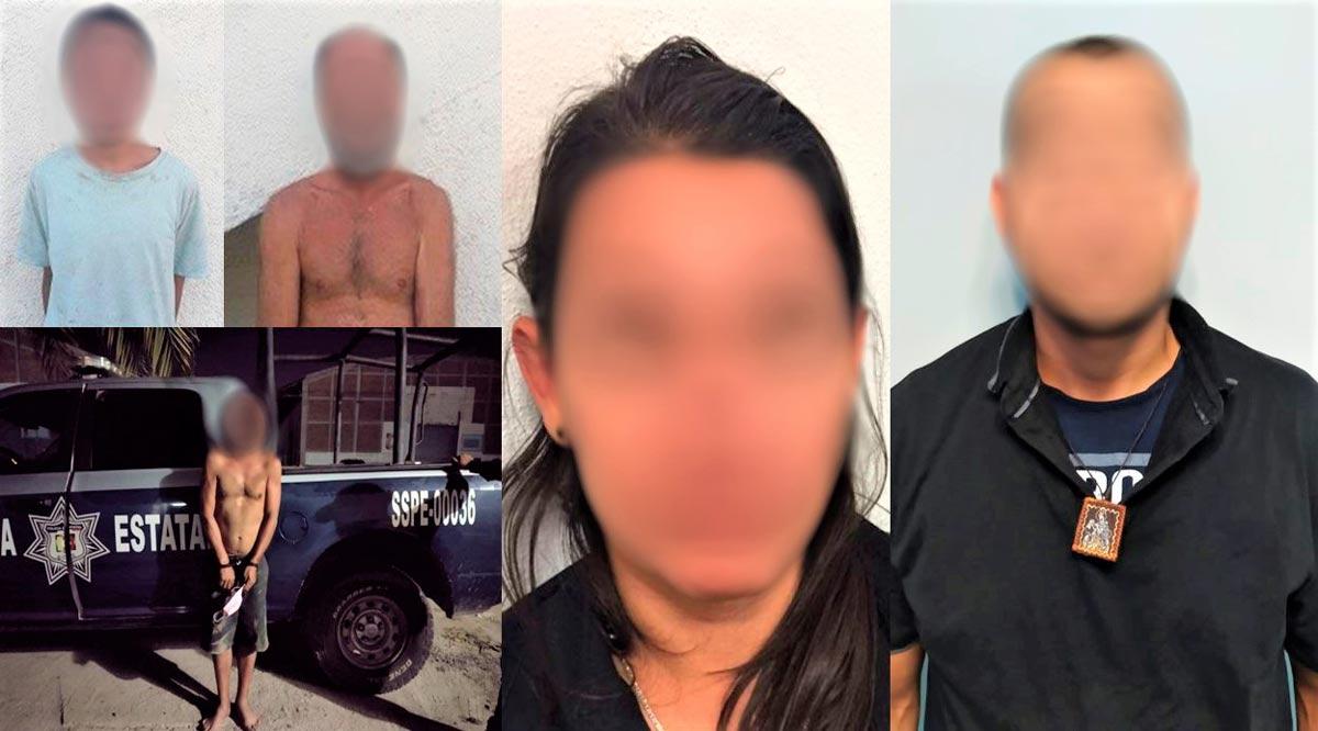 Detienen en La Paz a 5 sujetos