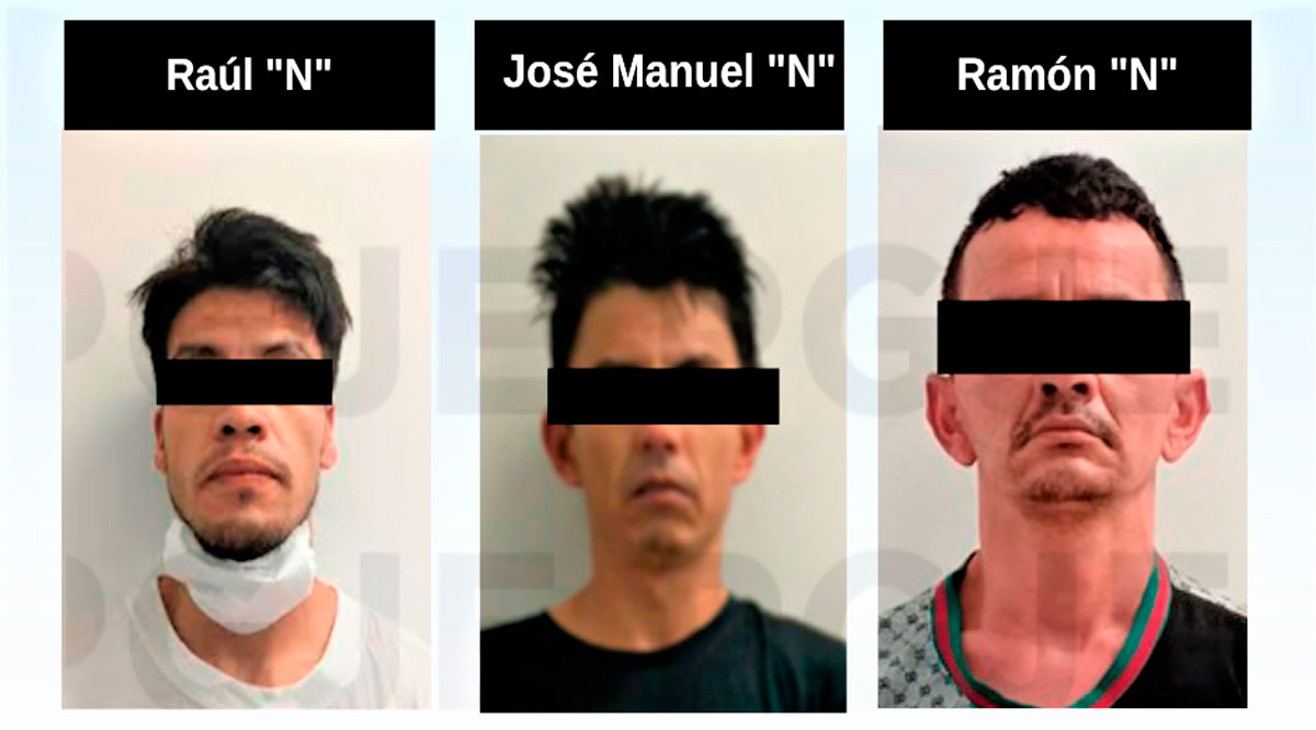 Detienen a 3 sujetos con 3,080 dosis de droga en La Paz
