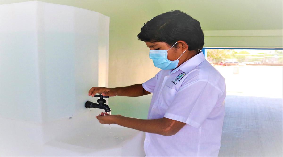Instalarán más de 2 mil lavamanos portátiles en escuelas públicas de nivel básico en BCS