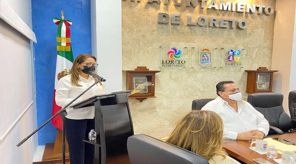 Entregó Alcaldesa de Loreto su III Informe de Gobierno a Cabildo