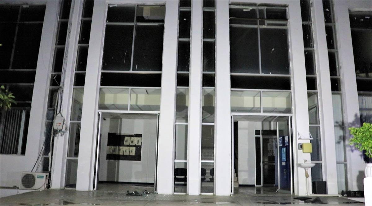 Incendio en las oficinas de la PGJE de La Paz