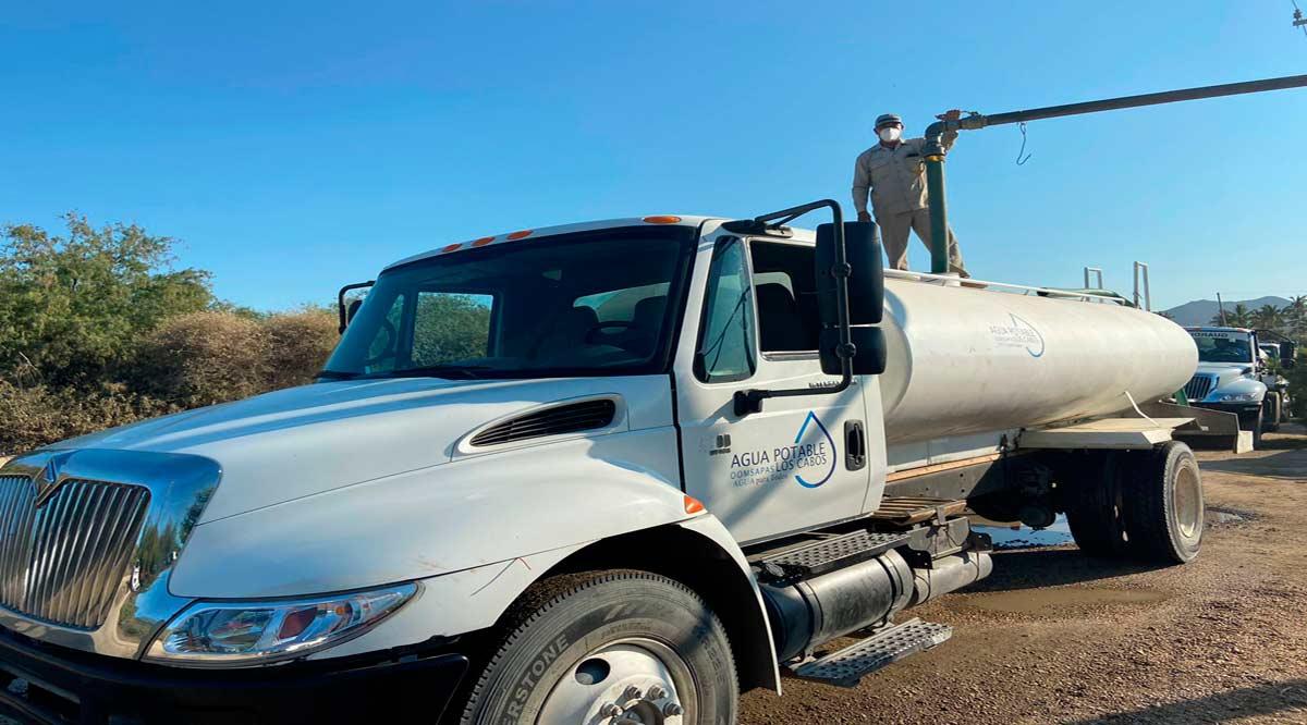 Se suministrará agua a las escuelas de Los Cabos a través de pipas para poder reiniciar clases presenciales