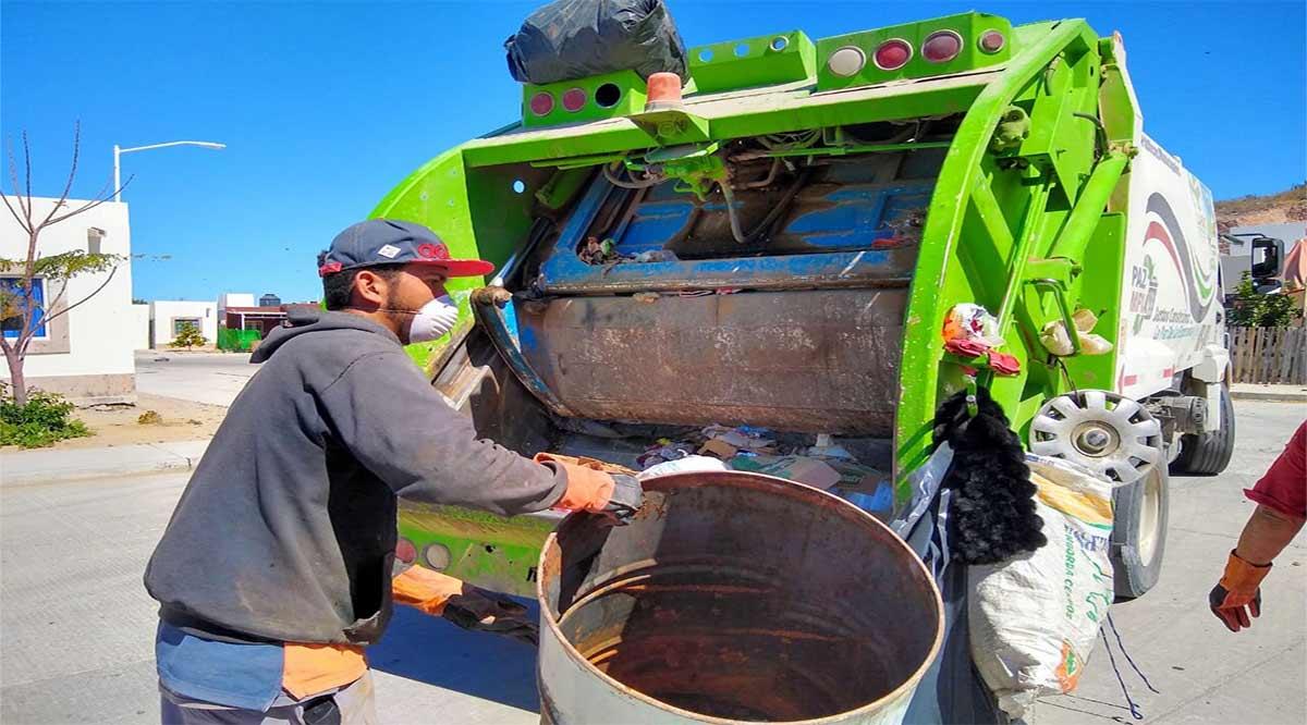 Refuerzan recolección de basura en La Paz con la sectorización