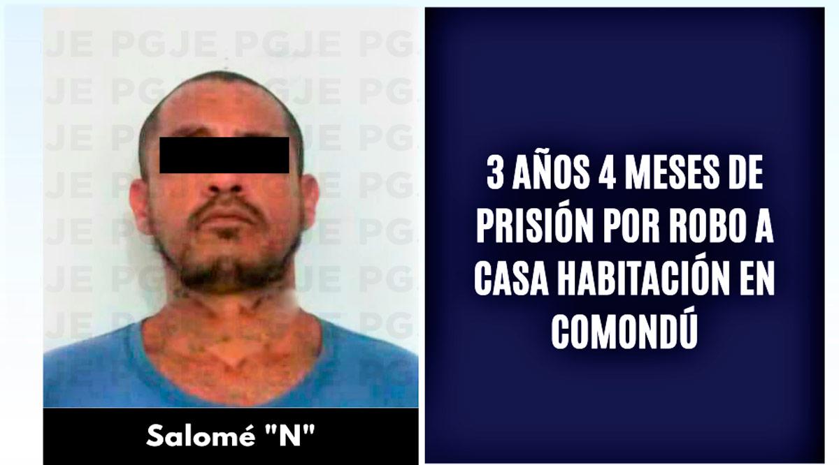 """Estará """"El Salo"""" en prisión 3 años 4 meses por robo en Comondú"""