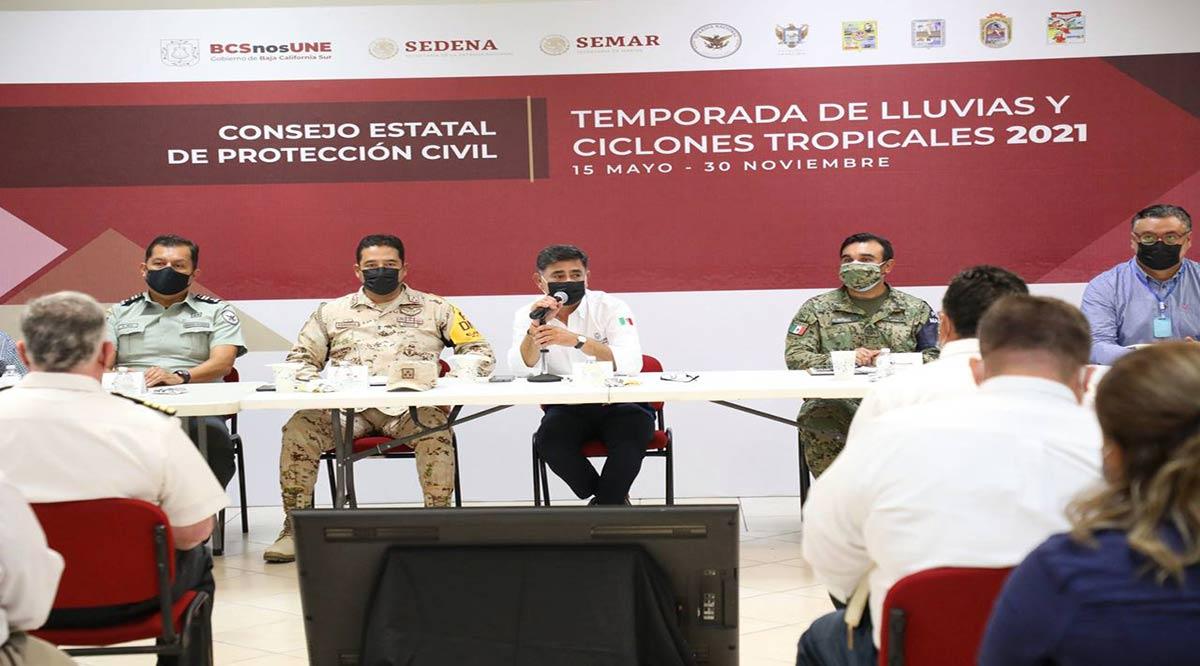 """Da seguimiento el gobierno de BCS a la tormenta tropical """"Pamela"""""""