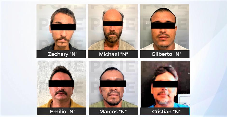 Ponen a disposición de la autoridad judicial a 6 sujetos por diversos delitos