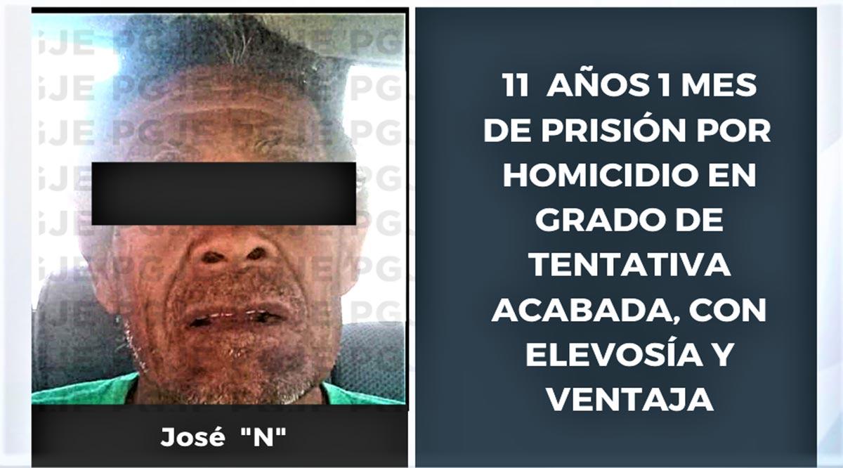 Sentencian 11 años 1 mes a sujeto por homicidio en grado de tentativa acabada en La Paz