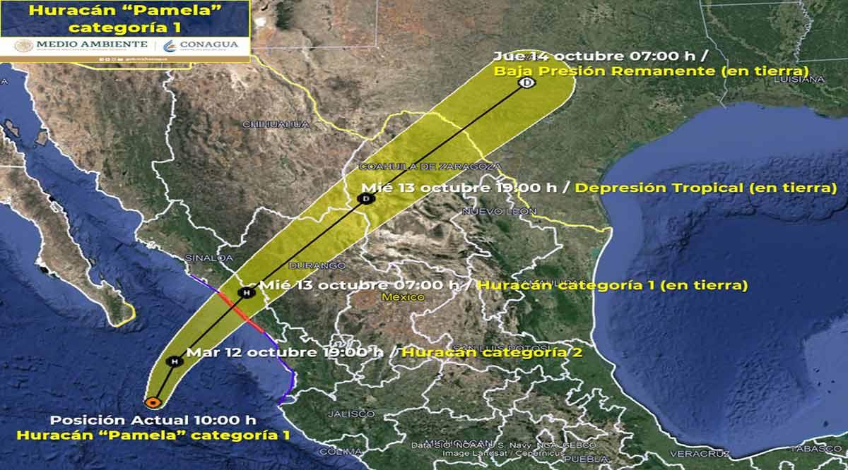 """Está a 295 km de CSL el huracán """"Pamela"""""""