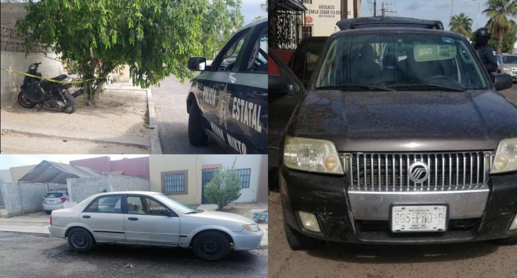 Localizan 2 vehículos y una motocicleta con reporte de robo en La Paz
